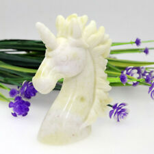 "3.96""Lantian Jade Carving Unicorn Crystal Skull,Reality,Crystal Healing Mu06"