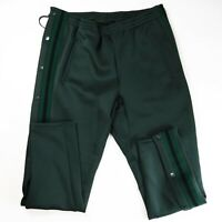 Cult of individuality mens 100%authentic  sweatpants green Medium snap W/Stripes