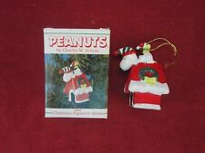 NEW - Peanuts - Snoopy & Woodstock 1987 Limited Ed. Christmas Ornament Willitts