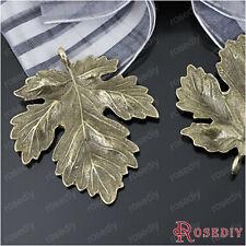 (23248)10PCS 37*35MM Antique Bronze Zinc Alloy Leaves pendants Jewelry Findings