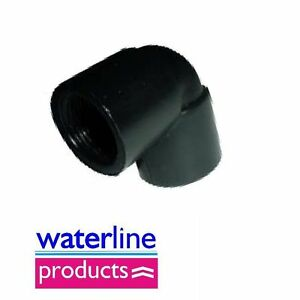 BSP Female x Female Elbow Polypropylene/PP/Black Plastic Pipe Fitting