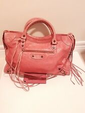 Pre-owned Balenciaga Classic City Bag Rose Colour