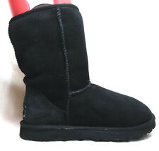 UGG 5825 Sz 7 US Women's Classic Short Black Suede Sheepskin Winter Boots