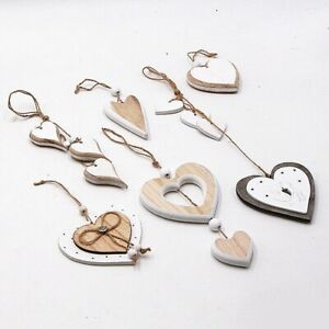 Wooden Heart Design DIY for Party Wedding Valentine's Day Hanging Ornament