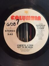 CHERYL LYNN Got To Be Real Stereo Mono 45 rpm Promo Boogie Funk Soul VG