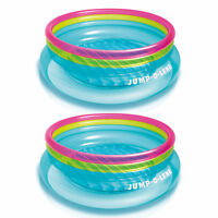 Intex Inflatable 80-Inch Jump-O-Lene Ring Bouncer For Kids Ages 3-6 (2 Pack)