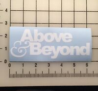 "Above And Beyond Above & Beyond 6"" Wide White Vinyl Decal Sticker - BOGO"