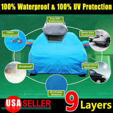 9 Layer 3XL PEVA Car Cover Waterproof Sun UV Snow Dust Rain Resistant Protection
