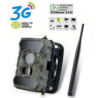 12MP Digital MMS SMS GPRS 3G Game Trail Hunting Farm Camera Video Upgraded 680M