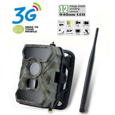 12MP Digital MMS SMS GPRS 3G Game Trail Hunting Camera Audio Video Upgraded 680M