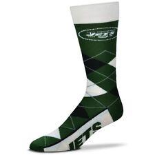 New York Jets Adult Argyle Crew Socks FBF 1 Pair- Large -new Free S/H (D2)