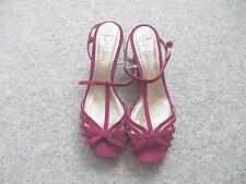 sandali pelle CLARKS 39 40 6 6,5 NEW scarpe decolte donna sexy zeppa viola T bar