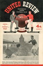 More details for football programme manchester united burnley 1954 – 55 review league div 1