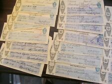 DEALER LOT OF 25 BARCLAYS BANK LIMITED BANK CHECKS; DATED IN 1920'S