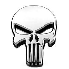 Adesivo sticker Skull Punisher auto moto scooter - car tuning teschio ARGENTO