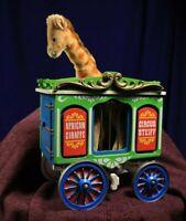 Steiff Giraffe in Circus Cage Wagon