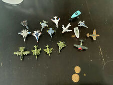 LOT of 16 - MILITARY MICRO MACHINES - PLANES, AND SHIPS FIGURES FREE SHIPPING