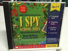 I Spy: School Days -- Brain-Building Games for Kids PCCD! COMPLETE WITH MANUAL!