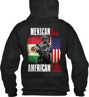 Mexican/american U.s. Military Mexican By Blood Gildan Hoodie Sweatshirt