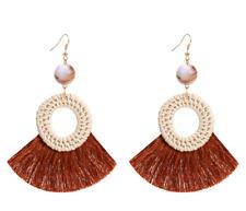 Fashion Boho  Long Tassel Earrings Rattan Weave Women Earrings Bohemia Jewelry