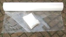 Clear Plastic Sheeting, 10M x 2M, 60Mu Thick, Many Uses