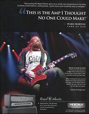 Mesa Boogie Royal Atlantic guitar amp 2012 advertisement Lamb of God Mark Morton