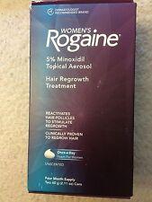 Women's Rogaine Foam 4 Month Supply 5% Minoxidil Topical Aerosol  Exp: 2018