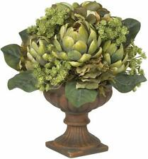 "New! Nearly Natural 14"" Artichoke Plants Arrangement Centerpiece Vintage Planter"
