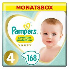 Pampers Premium Protection Windeln, Gr.4, 9-14kg, Monatsbox, 1er Pack (1 x 168 S