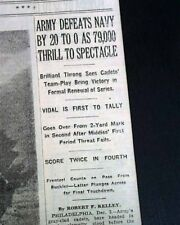 ARMY-NAVY GAME College Football Rivalry West Point vs. Annapolis 1932 Newspaper