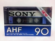 SONY AHF 90 BLANK AUDIO CASSETTE TAPE NEW RARE 1982 YEAR JAPAN MADE