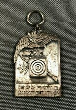 US Army Mass NG 182nd Infantry 1931 Rifle Competition Medal Sterling 858C