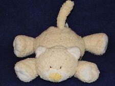 """9"""" Ty Baby Pluffies Yellow KUTIE KAT Plush Kitty Cat 2005"""