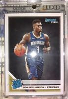 2019-20 Donruss Zion Williamson RC, Rated Rookie Card, New Orleans Pelicans #201