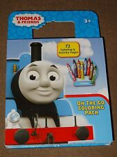 Thomas The Tank Engine On The Go Coloring Pack W/ 8 Crayons Built-In Storage