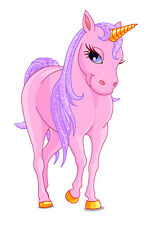 Einhorn Pferd Kinderzimmer Mädchen Wandtattoo farbig 33 x 52cm Motiv #101A