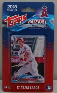 2018 L.A. ANGELS TOPPS 17 CARDS TEAM SET OHTANI UPTON TROUT PUJOLS PHILIPS CRON