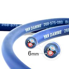 New Van Damme Blue Series Studio 2x6mm Twin Axial Speaker Cable 1m- Unterminated