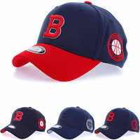 New Men Women Unisex Boston Red Sox B Logo Flexfit Baseball Cap Stretch Fit Hats