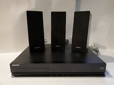 SONY BDV-E280 3D Bluray DVD 5.1Ch HDMI LANFM Receiver NoRemote 3 Speakers Tested