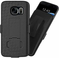 Stalion® Secure Belt Clip Holster & Shell Case w Kickstand for Samsung Galaxy S7
