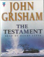 The Testament John Grisham 4 Cassette Audio Book Henry Leyva Thriller FASTPOST