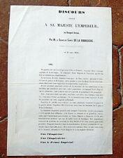 1858 discours BRETON à Sa Majesté l'Empereur VIVE L'EMPEREUR VIVE L'IMPERATRICE