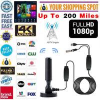 HD 1080P 4K Digital Indoor Amplified TV Antenna With Amplifier 200 Miles Range