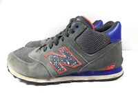 "Men's New Balance ""574"" Gray/Orange  Athletic Shoes US 11 D, UK 10.5, EUR 45"