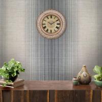 Striped Modern Wallpaper Gray Metallic Textured stria lines plaid stripes rolls