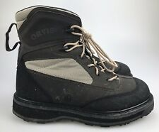 ORVIS Wading Boots Vibram Sole Slip Resist METAL CLEATS Mens Size 12 Lace Up