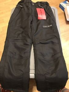 Lucky Bums Youth Snow Ski Pants with Reinforced Knees and Seat, Black, X-Small