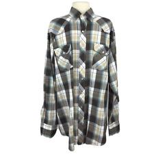 Gibson Trading Company Men 2XL Tall Plaid Shirt Western Rodeo Snap Up LS Cowboy