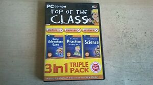 TOP OF THE CLASS 3in1 TRIPLE PACK SATS KEY STAGE 1 MATHS ENGLISH SCIENCE PC GAME